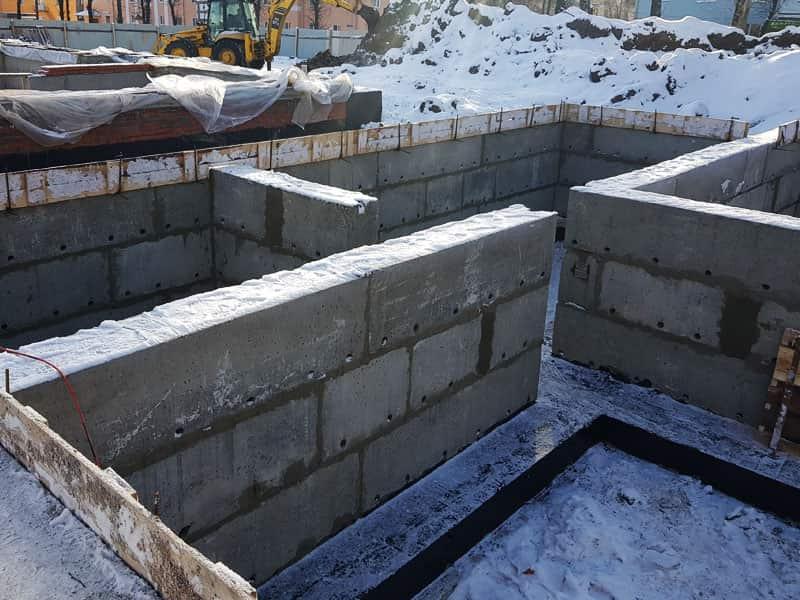 установка фбс блоков на фундамент